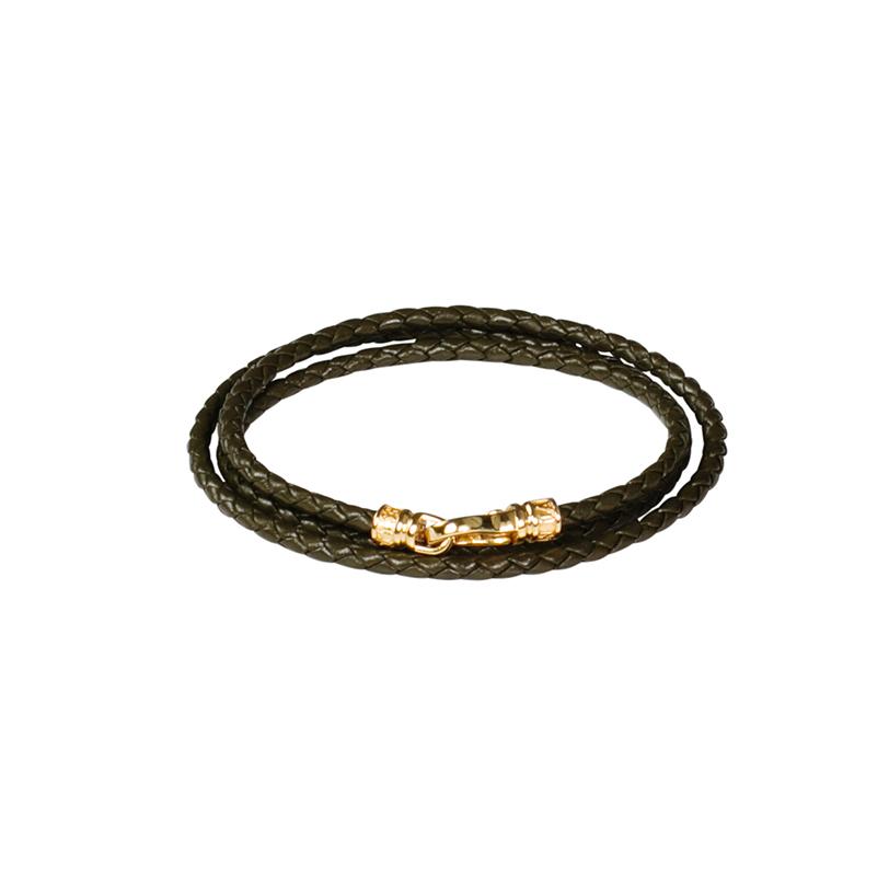 braided double wrap bracelet - Green Nialaya aLvT6zkY9w